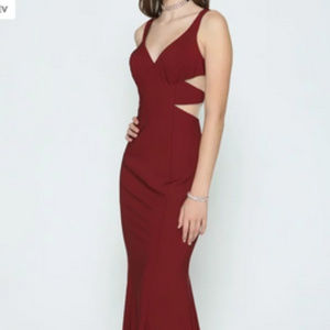 Burgundy Bridesmaid Long dress